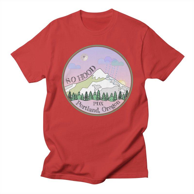 Mt. Hood [Night] Men's Regular T-Shirt by Northern Limit