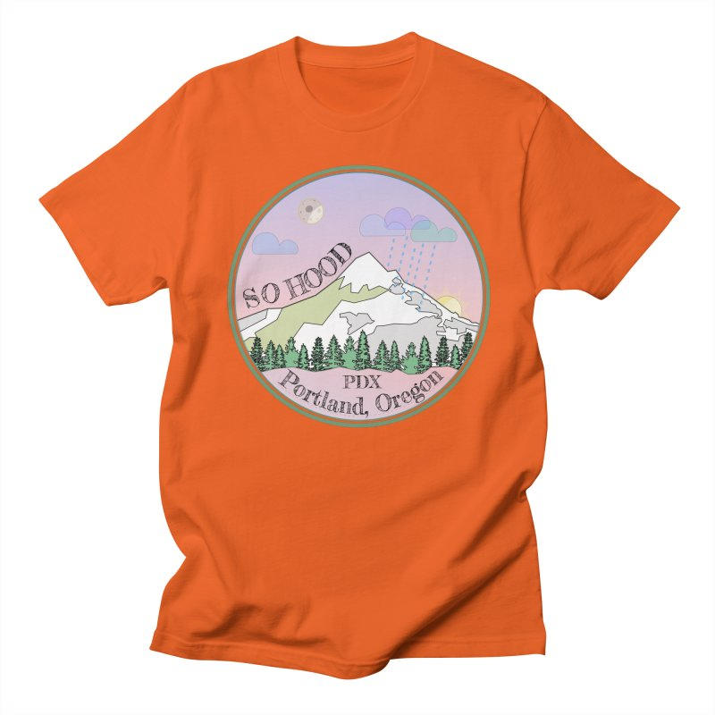Mt. Hood [Night] Men's T-Shirt by Northern Limit