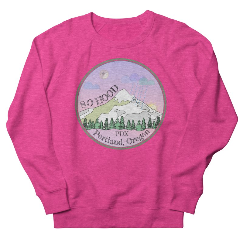 Mt. Hood [Night] Women's French Terry Sweatshirt by Northern Limit