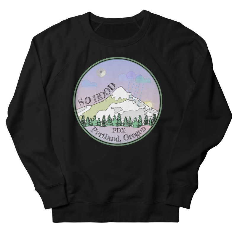 Mt. Hood [Night] Men's French Terry Sweatshirt by Northern Limit