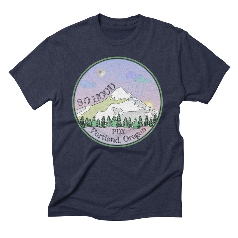 Mt. Hood [Night] Men's Triblend T-Shirt by Northern Limit