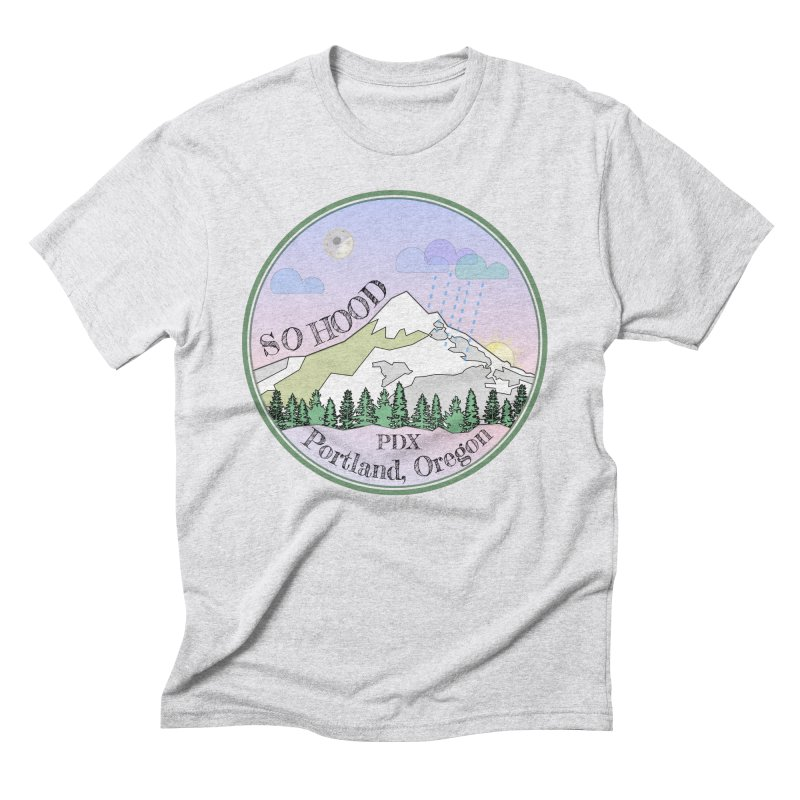 Mt. Hood [Night] Men's Triblend T-Shirt by Northern Limit