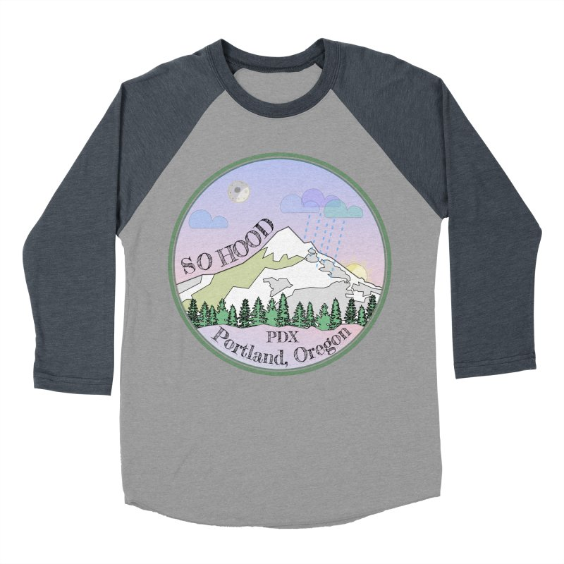 Mt. Hood [Night] Women's Baseball Triblend T-Shirt by Northern Limit