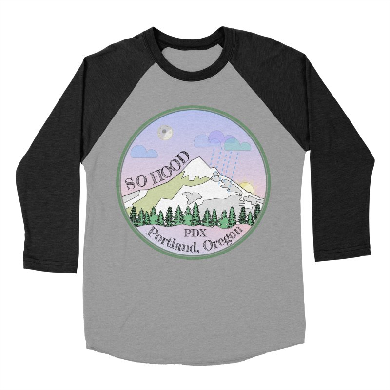 Mt. Hood [Night] Men's Baseball Triblend Longsleeve T-Shirt by Northern Limit