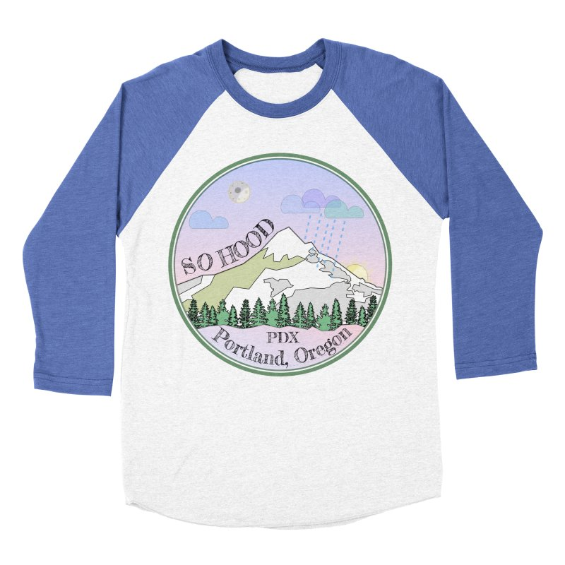 Mt. Hood [Night] Men's Baseball Triblend Longsleeve T-Shirt by Northern Limit