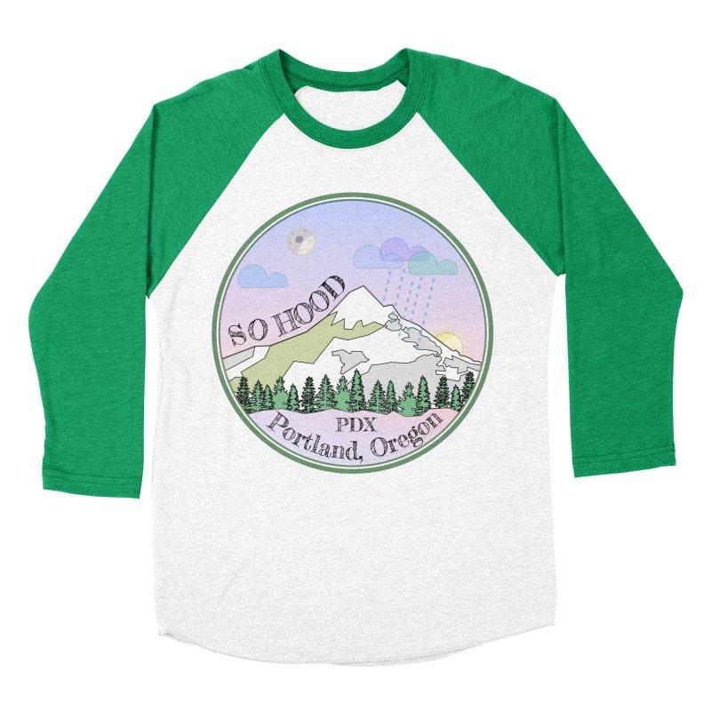 Mt. Hood [Night] Men's Baseball Triblend T-Shirt by Northern Limit