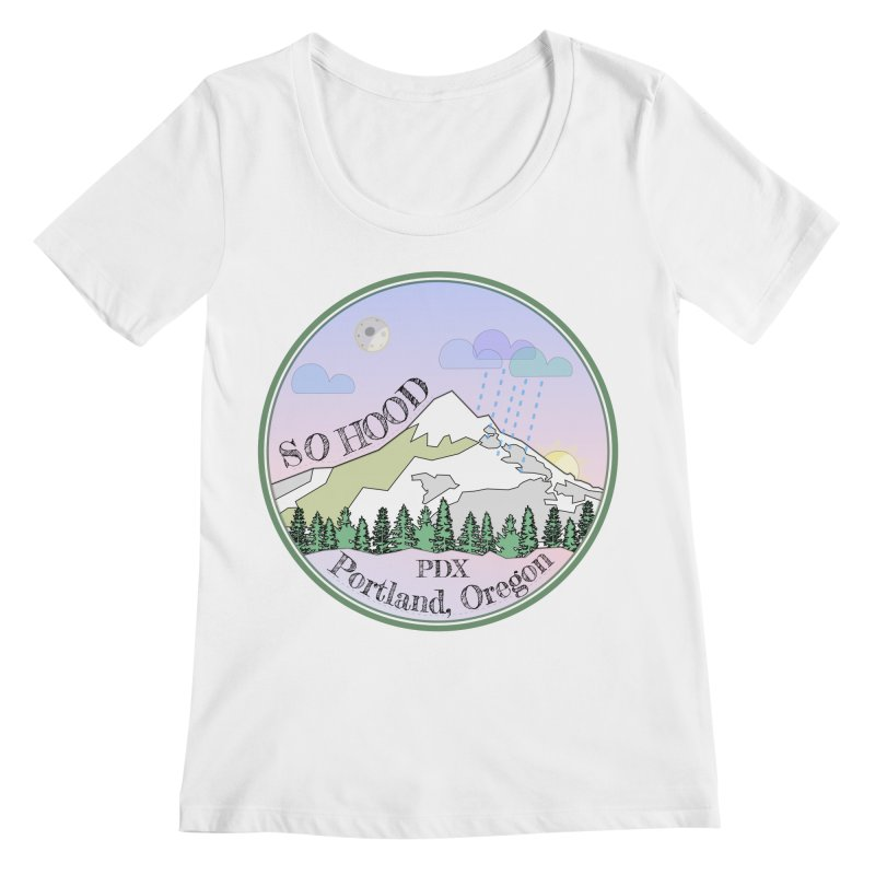 Mt. Hood [Night] Women's Regular Scoop Neck by Northern Limit