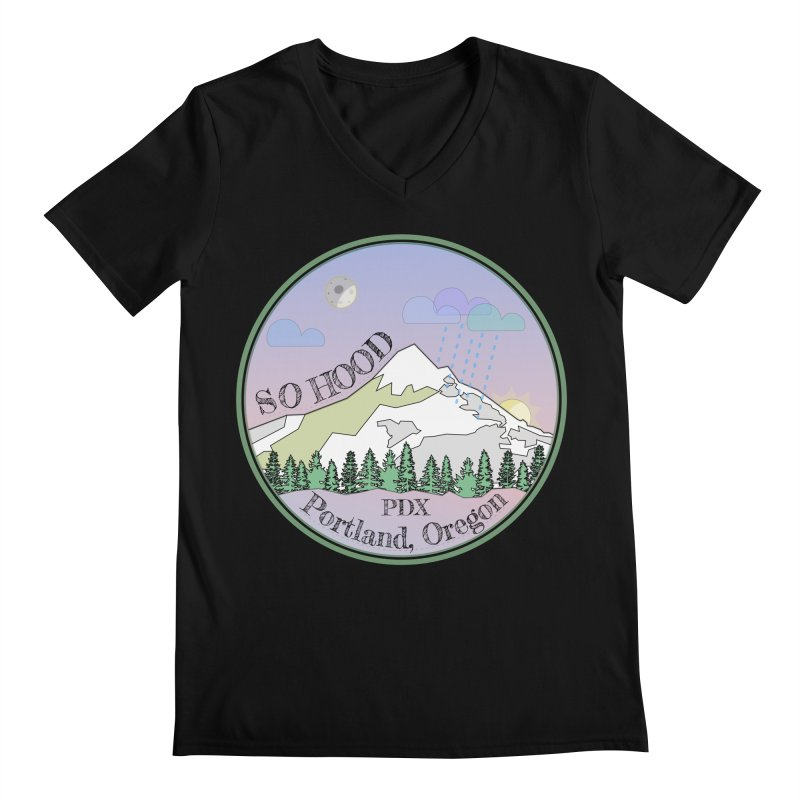 Mt. Hood [Night] Men's Regular V-Neck by Northern Limit