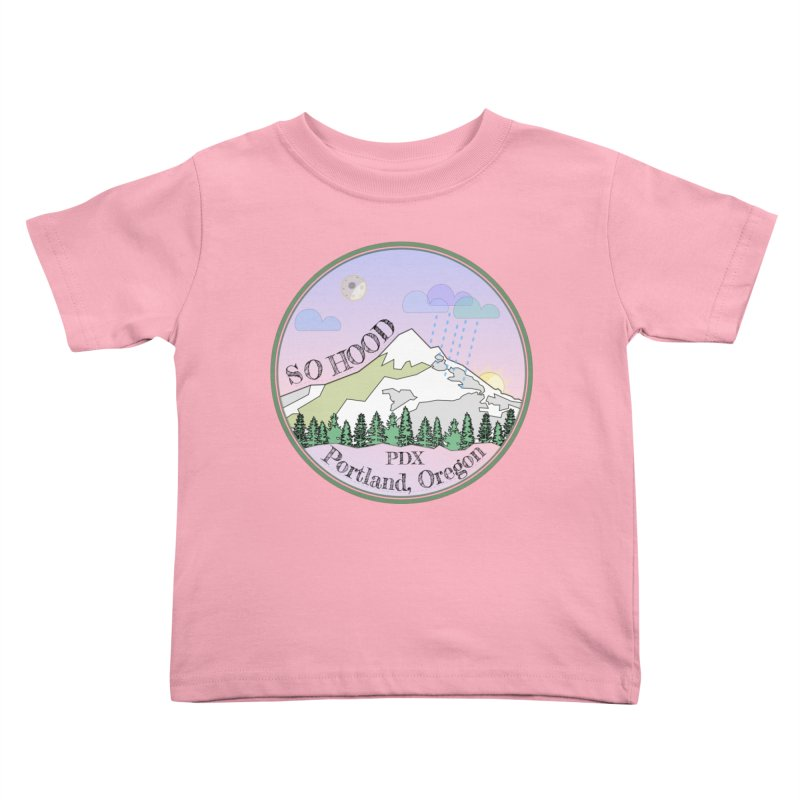 Mt. Hood [Night] Kids Toddler T-Shirt by Northern Limit