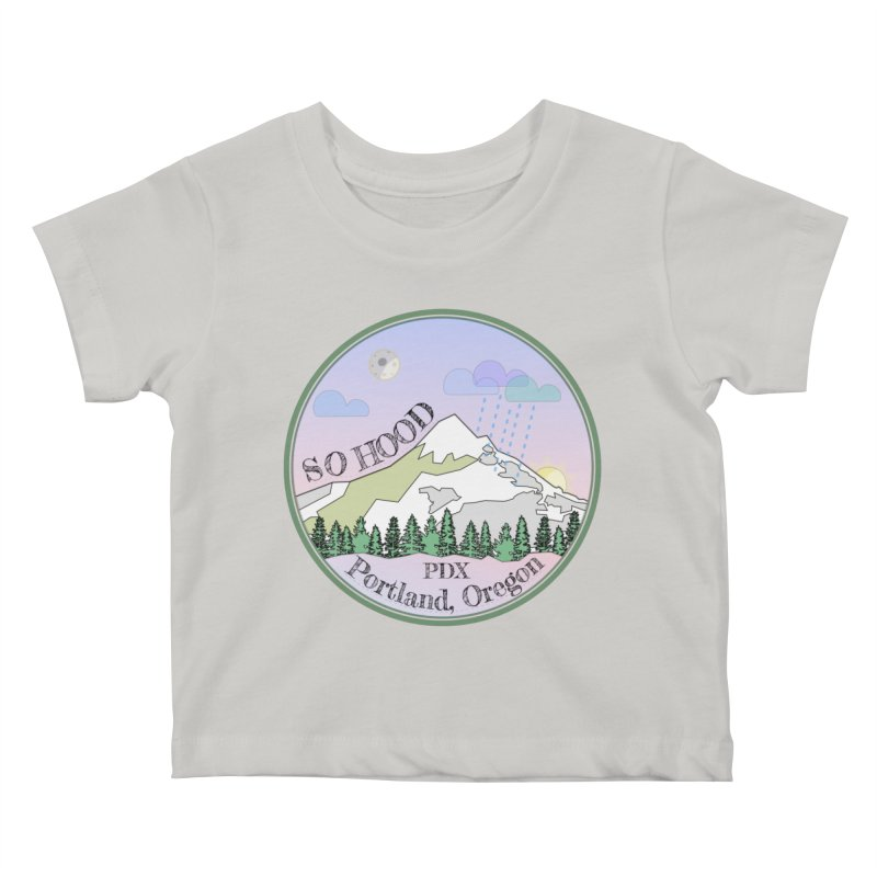 Mt. Hood [Night] Kids Baby T-Shirt by Northern Limit