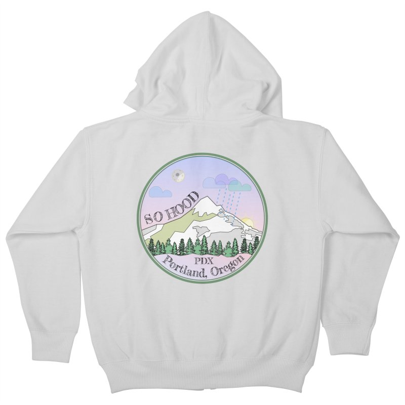 Mt. Hood [Night] Kids Zip-Up Hoody by Northern Limit