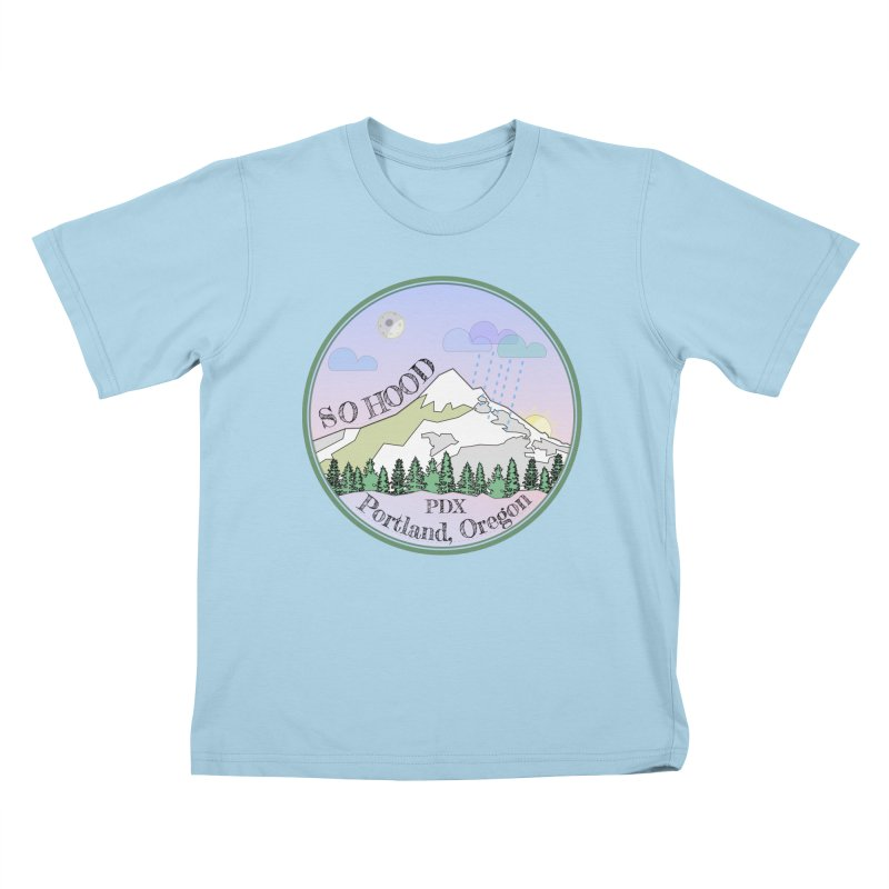 Mt. Hood [Night] Kids T-Shirt by Northern Limit