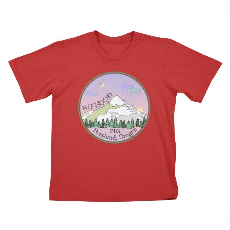Mt. Hood [Night] Kids T-Shirt by Northern Limit