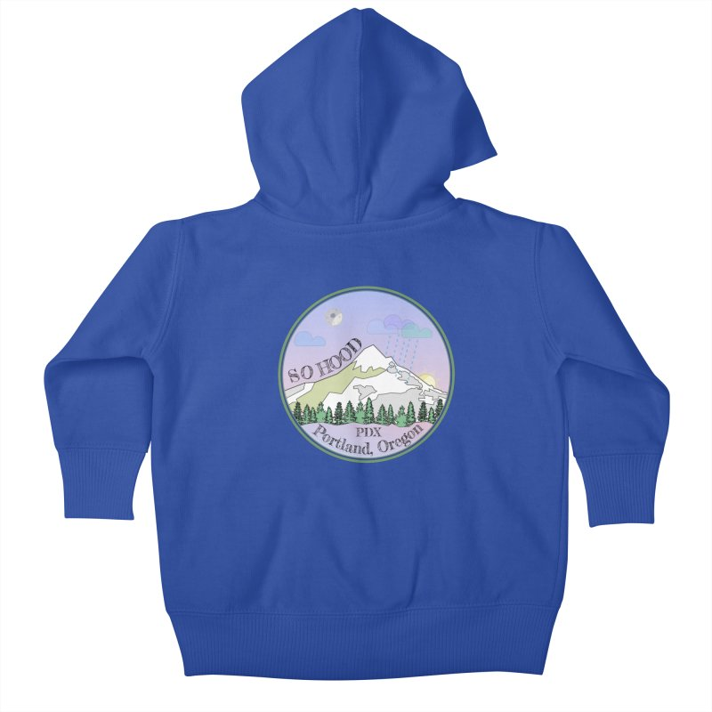 Mt. Hood [Night] Kids Baby Zip-Up Hoody by Northern Limit