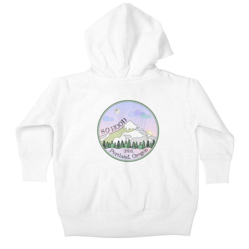 Mt. Hood [Night] Kids Baby Zip-Up Hoody by Northern Limit