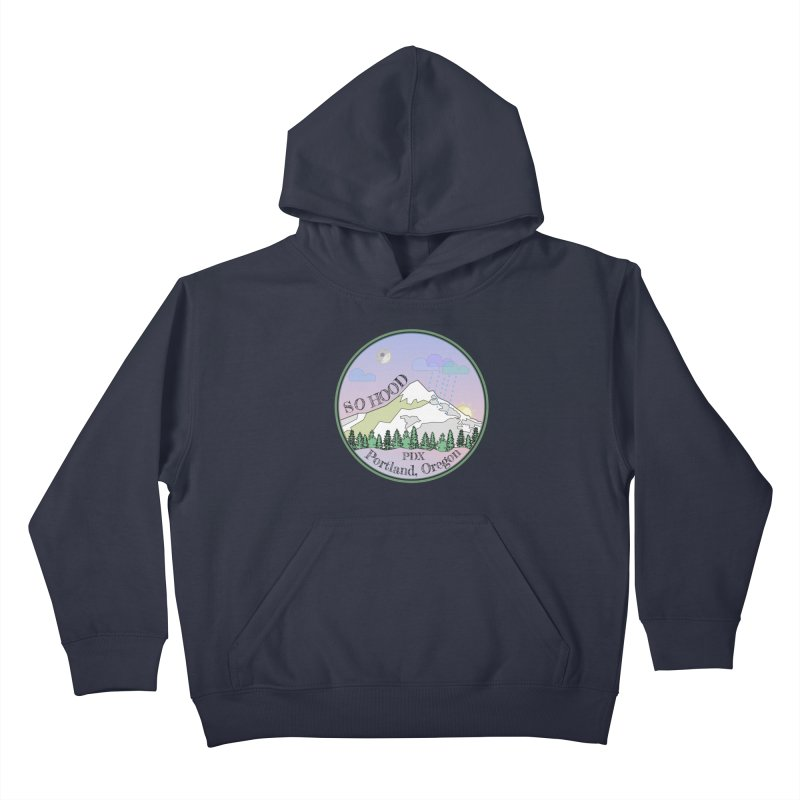 Mt. Hood [Night] Kids Pullover Hoody by Northern Limit