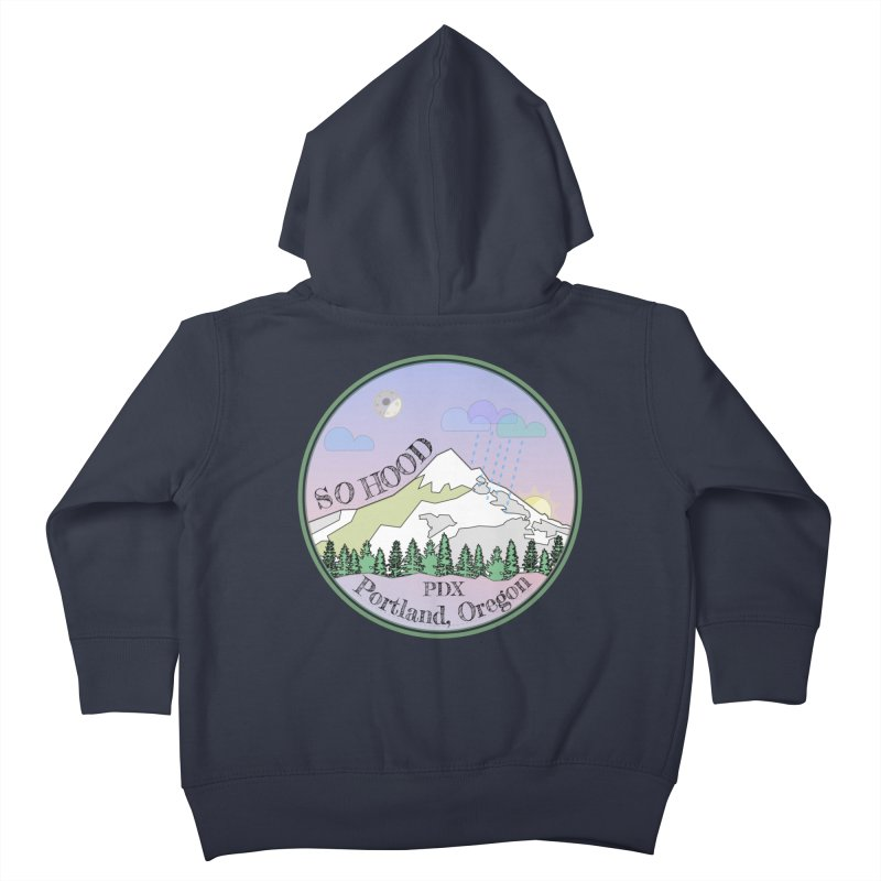 Mt. Hood [Night] Kids Toddler Zip-Up Hoody by Northern Limit