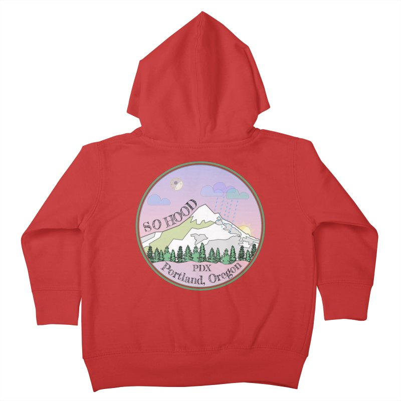 Mt. Hood [Night] Kids Toddler Zip-Up Hoody by Northern Limit