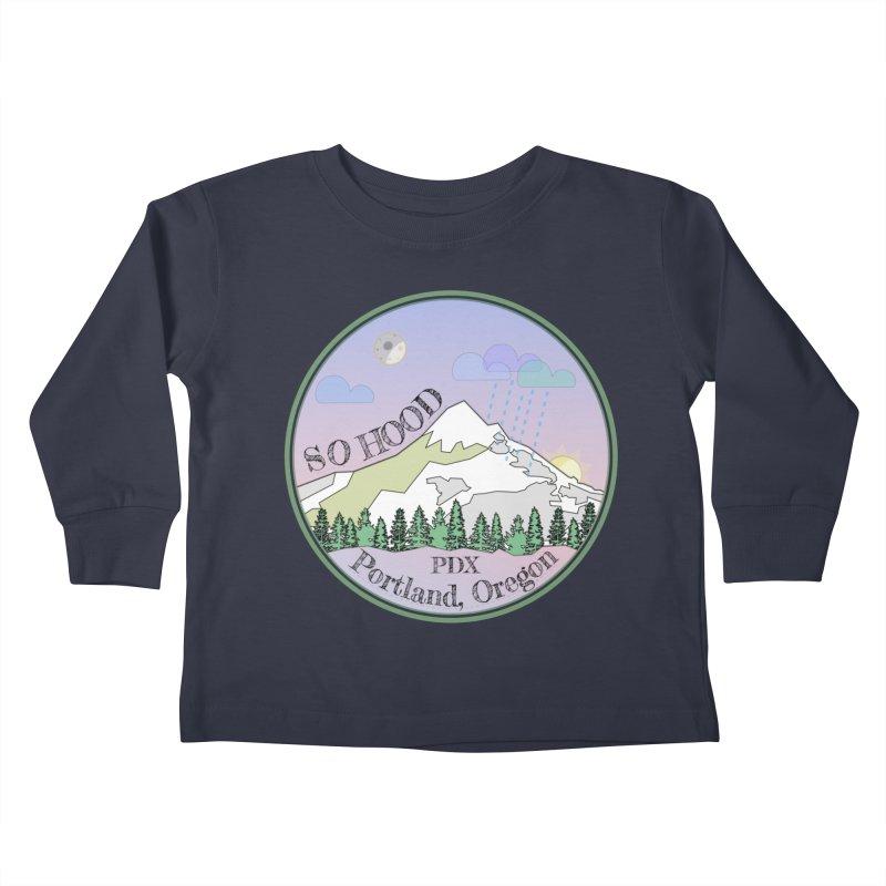 Mt. Hood [Night] Kids Toddler Longsleeve T-Shirt by Northern Limit