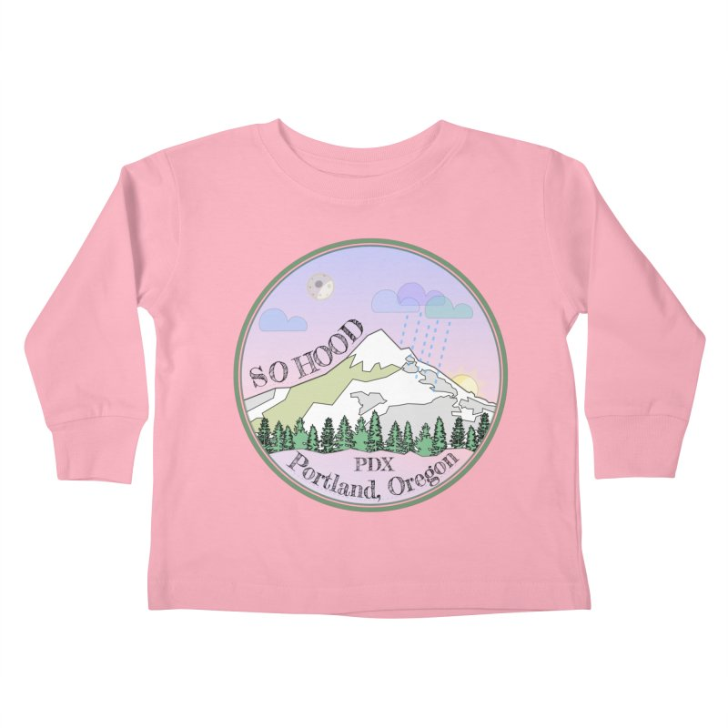 Mt. Hood [Night] Kids Toddler Longsleeve T-Shirt by Northern Limit