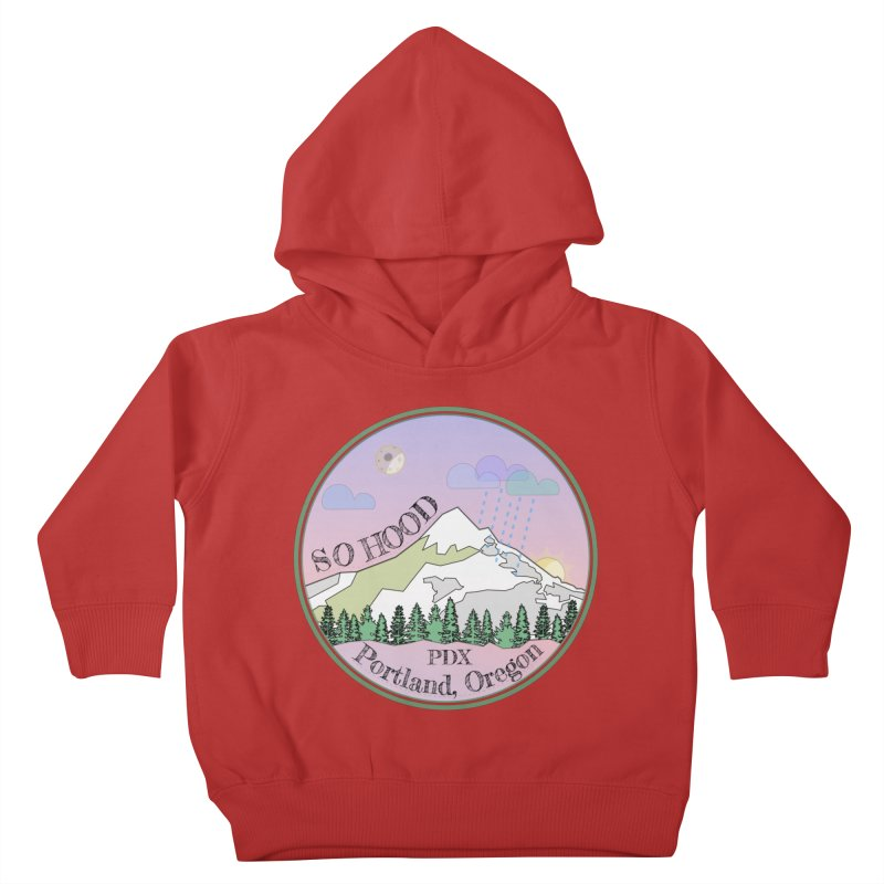 Mt. Hood [Night] Kids Toddler Pullover Hoody by Northern Limit