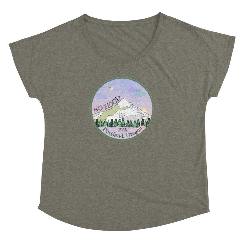Mt. Hood [Night] Women's Dolman Scoop Neck by Northern Limit
