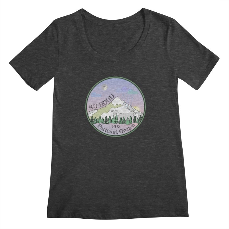 Mt. Hood [Night] Women's Scoopneck by Northern Limit