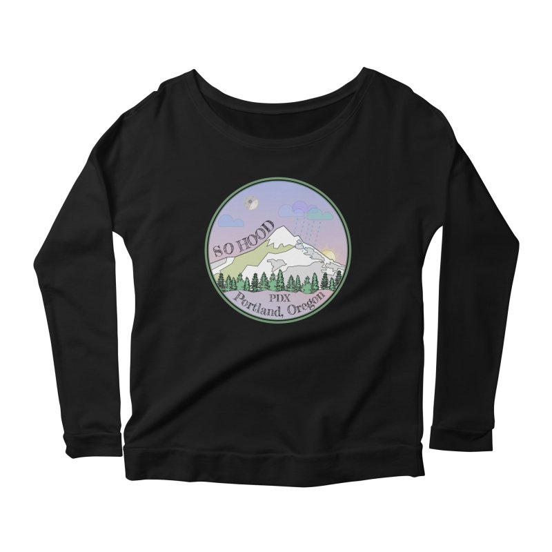 Mt. Hood [Night] Women's Scoop Neck Longsleeve T-Shirt by Northern Limit