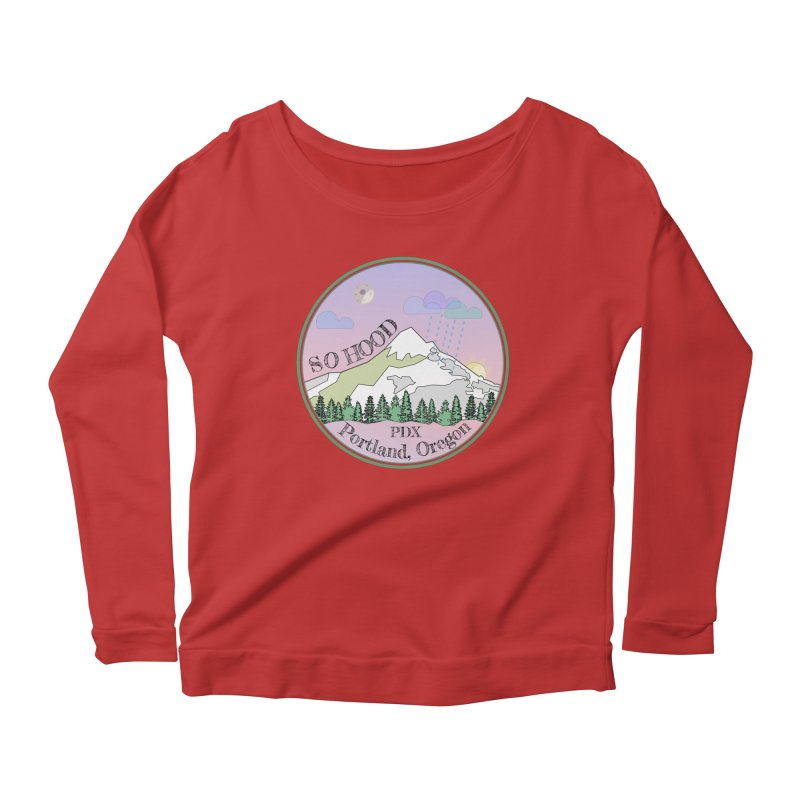 Mt. Hood [Night] Women's Scoop Neck Longsleeve T-Shirt by Northern Limit