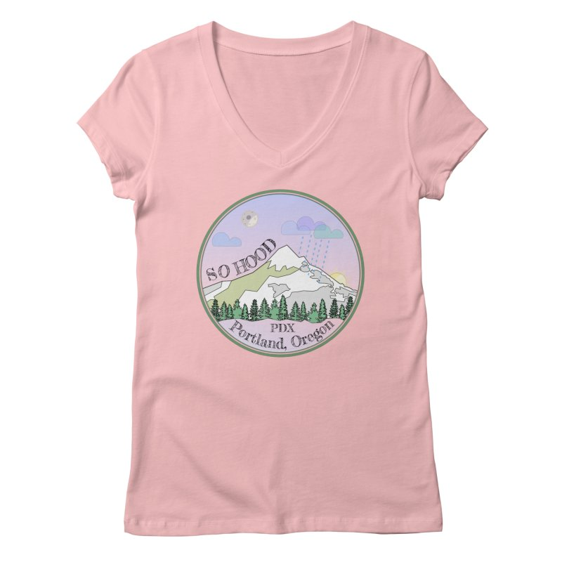 Mt. Hood [Night] Women's V-Neck by Northern Limit