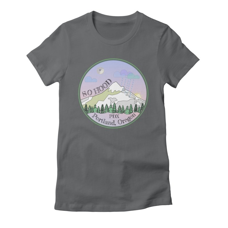 Mt. Hood [Night] Women's Fitted T-Shirt by Northern Limit