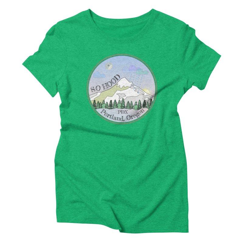 Mt. Hood [Night] Women's Triblend T-Shirt by Northern Limit