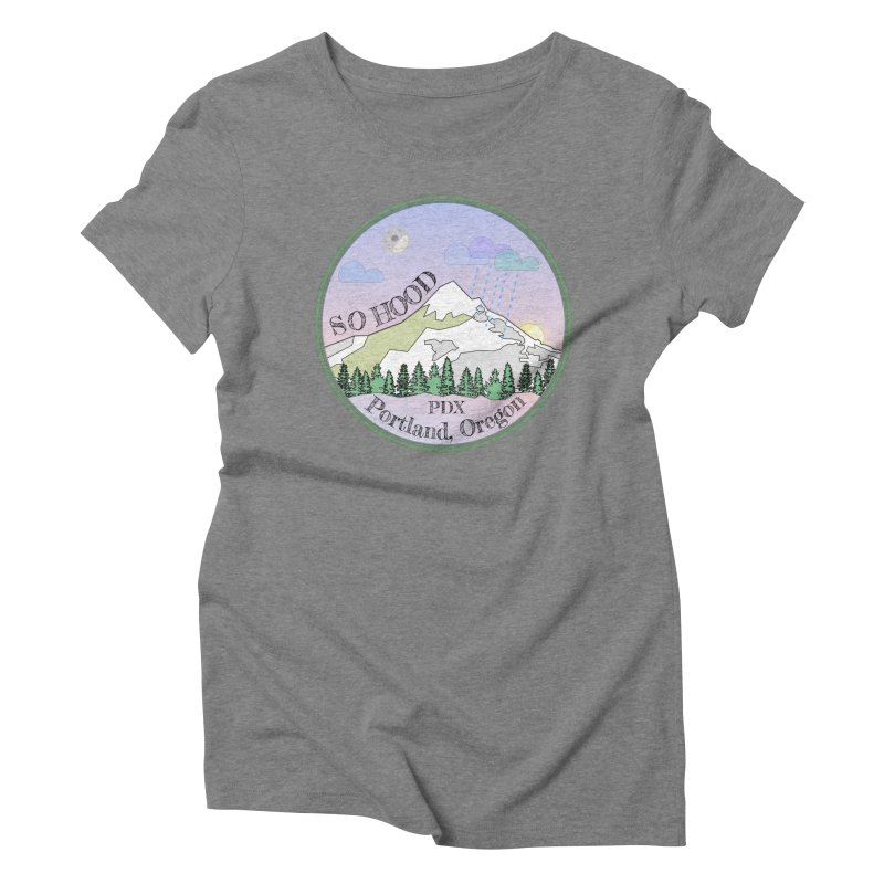 Mt. Hood [Night] Women's Triblend T-Shirt by Northern Limit