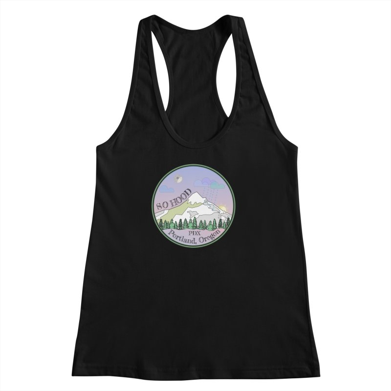 Mt. Hood [Night] Women's Racerback Tank by Northern Limit
