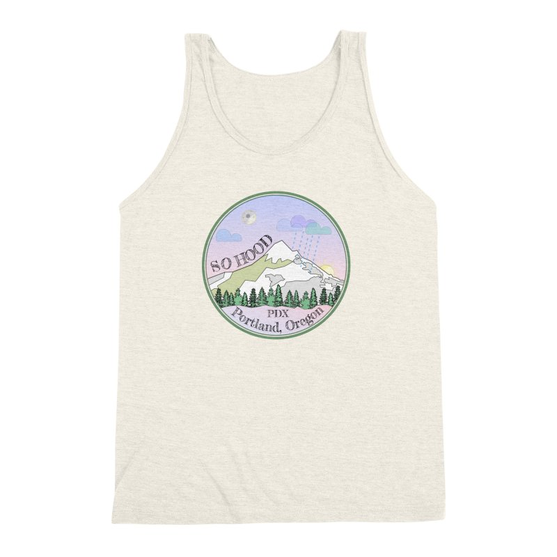 Mt. Hood [Night] Men's Triblend Tank by Northern Limit