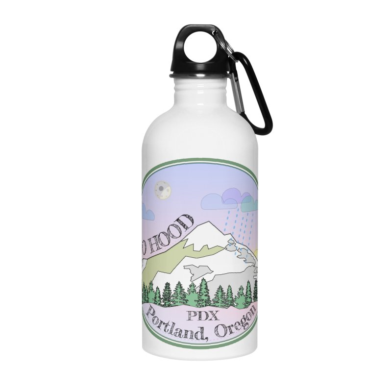 Mt. Hood [Night] Accessories Water Bottle by Northern Limit
