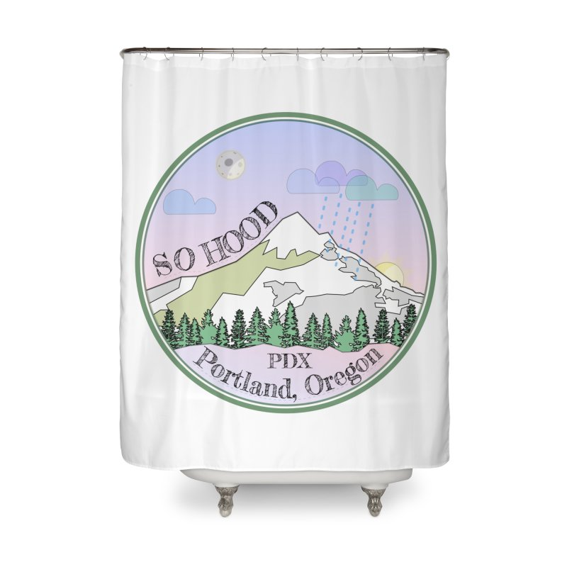 Mt. Hood [Night] Home Shower Curtain by Northern Limit