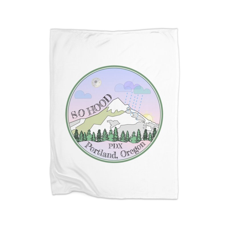 Mt. Hood [Night] Home Blanket by Northern Limit