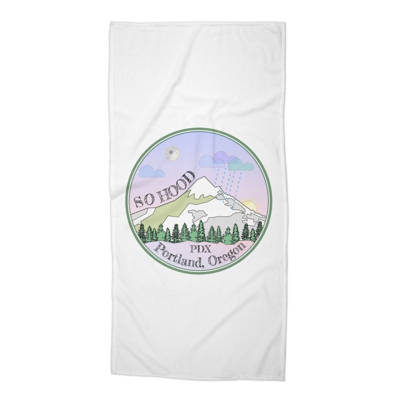 Mt. Hood [Night] Accessories Beach Towel by Northern Limit