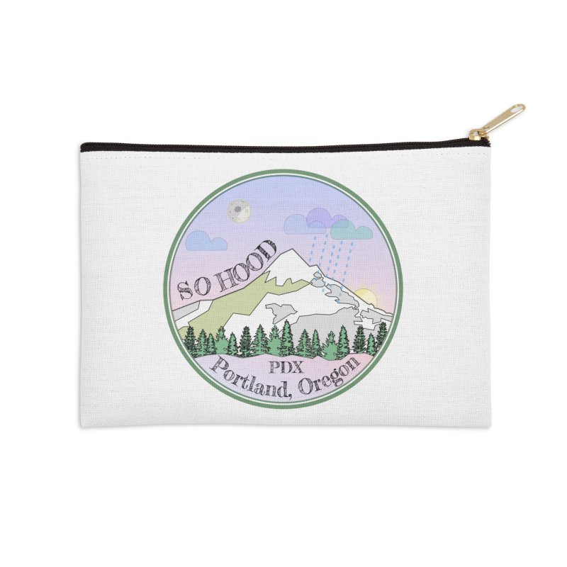 Mt. Hood [Night] Accessories Zip Pouch by Northern Limit