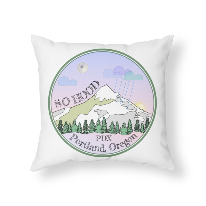 Mt. Hood [Night] Home Throw Pillow by Northern Limit