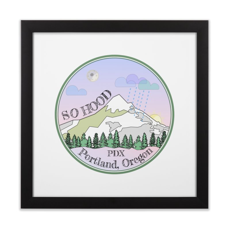 Mt. Hood [Night] Home Framed Fine Art Print by Northern Limit