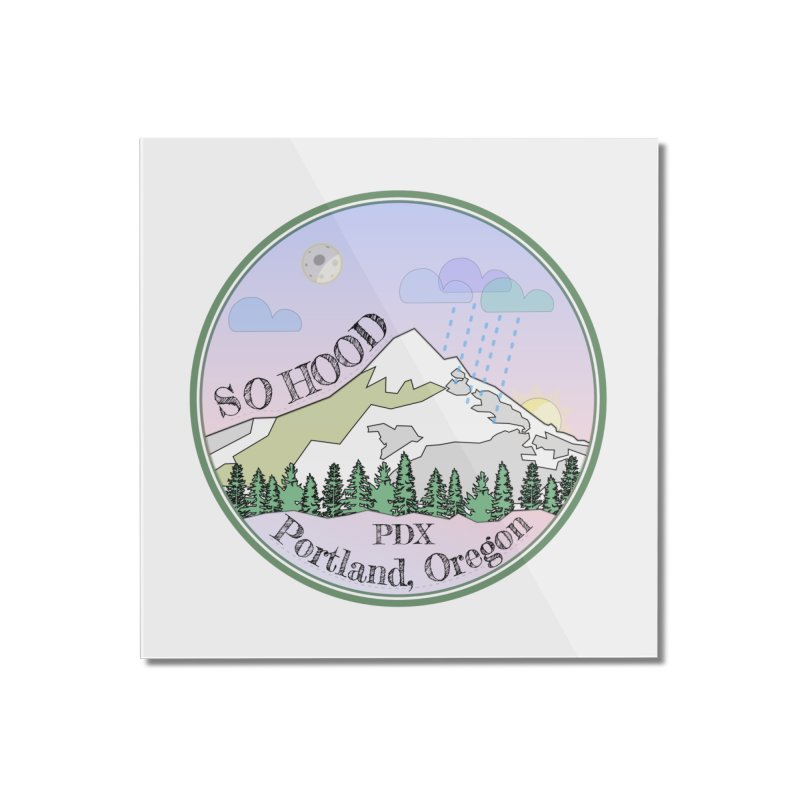 Mt. Hood [Night] Home Mounted Acrylic Print by Northern Limit