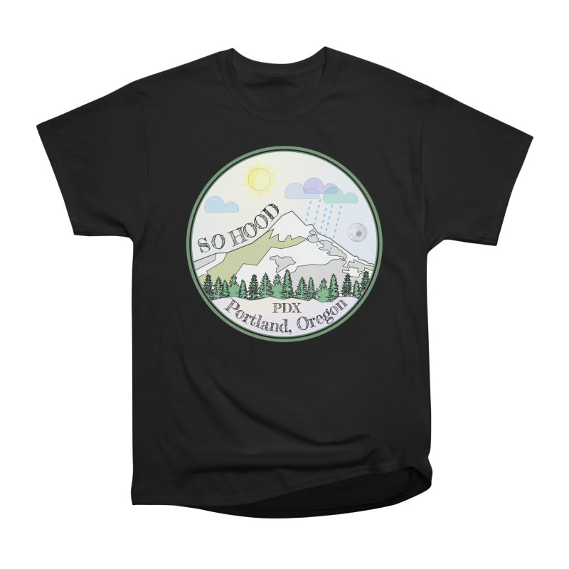 Mt. Hood [Day] Men's Heavyweight T-Shirt by Northern Limit