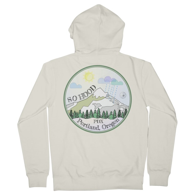 Mt. Hood [Day] Men's French Terry Zip-Up Hoody by Northern Limit