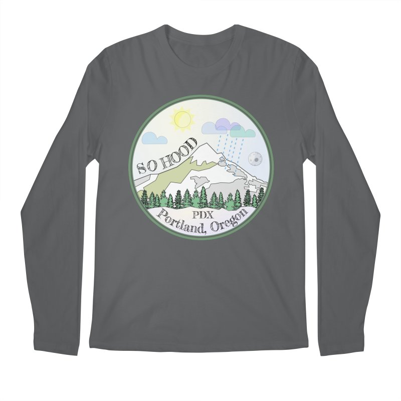 Mt. Hood [Day] Men's Regular Longsleeve T-Shirt by Northern Limit