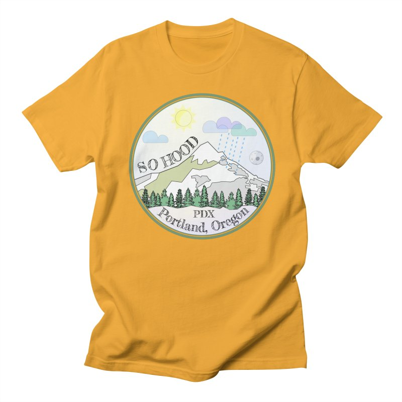Mt. Hood [Day] Men's T-Shirt by Northern Limit