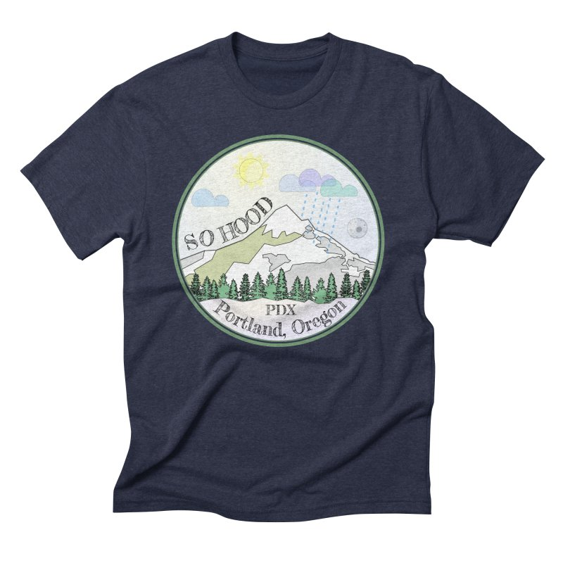 Mt. Hood [Day] Men's Triblend T-Shirt by Northern Limit
