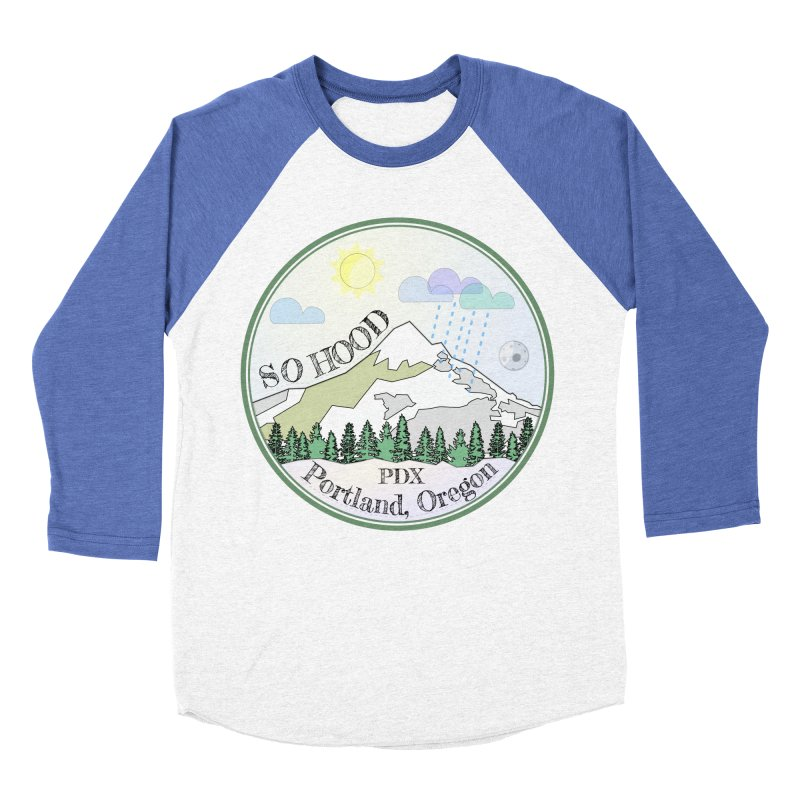 Mt. Hood [Day] Men's Baseball Triblend Longsleeve T-Shirt by Northern Limit