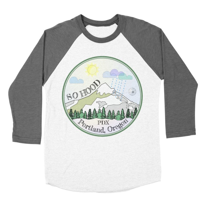 Mt. Hood [Day] Men's Baseball Triblend Longsleeve T-Shirt by Northern Limit